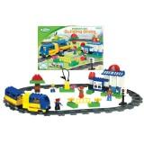 Железная дорога с пассажирским поездом B
