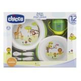 Набор детской посуды Chicco 12+