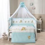 Комплект в кроватку Perina Фея Голубой Л