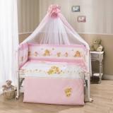 Комплект в кроватку Perina Фея Розовый Л