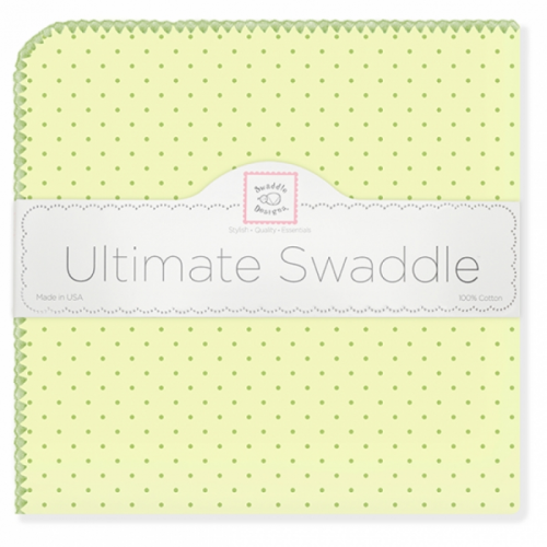 Фланелевая пеленка SwaddleDesigns Kiwi w/Kiwi Dot