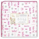Фланелевая пеленка SwaddleDesigns Pink H
